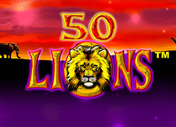 A detailed review of 50 lions slot machine that was created by Aristocrat